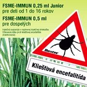 Prevencia ochorenia spôsobeného vírusom kliešťovej encefalitídy- FSME-IMMUN